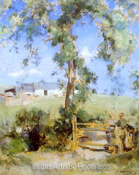 A Gate by a Farm, Galloway by Edward Arthur Walton