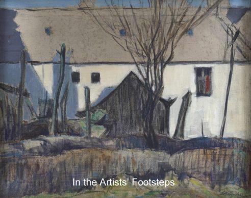 A Kirkcudbright Backyard by Ernest Archibald Taylor