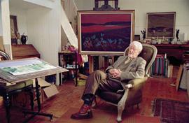 Archie Sutter Watt at home in his studio at Kirkgunzeon