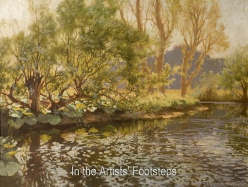 A Sun Dappled Pool by Charles Oppenheimer