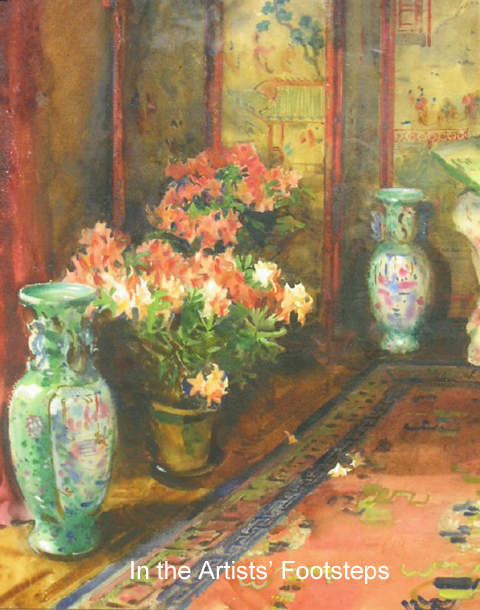 Azalea Mollis in the Drawing Room at Dalswinton by William Bruce Ellis Ranken