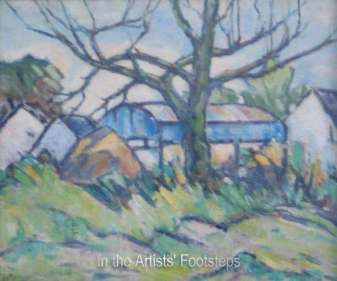 Blue Barn by Ernest Archibald Taylor