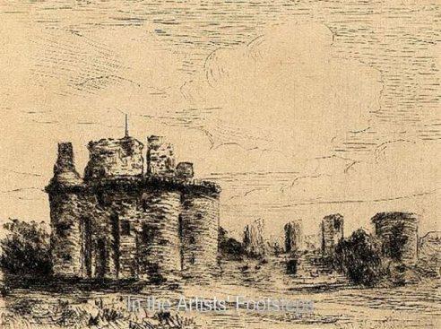 Caerlaverock Castle by Hugh Harmwood Banner