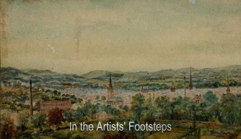 Dumfries from High Cemetery by George Bain