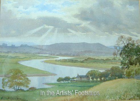 Evening River Cree by Abraham C G S Amarasekera