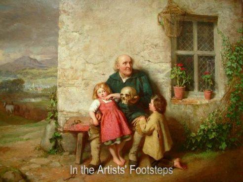 Grandpa Describing the Battle of Blenheim to his Grandchildren by John Faed