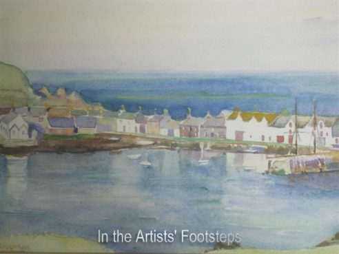 Harbour, The Isle of Whithorn by Christian Jane Fergusson