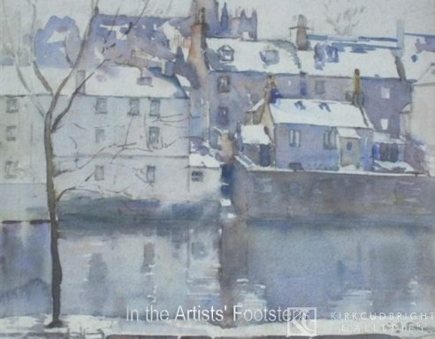 The Nith and Maxwelltown in Winter by Christian Jane Fergusson