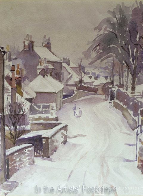Rotchell Road, Maxwelltown in Winter by Christian Jane Fergusson