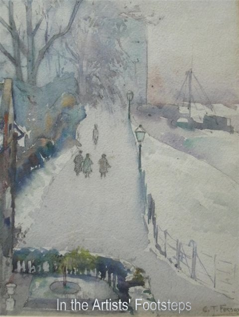 The Dock Park, Maxwelltown, in Winter by Christian Jane Fergusson
