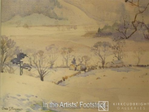 The Mabie Hills in Winter by Christian Jane Fergusson